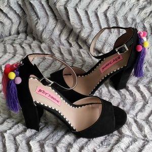 Betsy Johnson Funky Peep Toe Heels